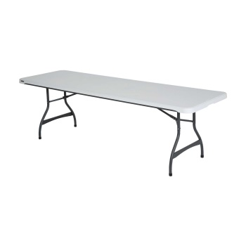 8-Foot Commercial Stacking Folding Table (White Granite)