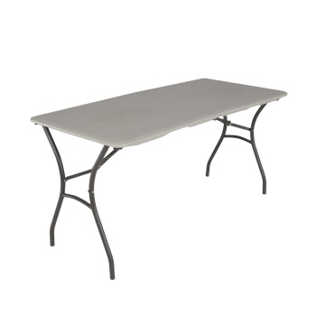 5-Foot Essential Fold-In-Half Table (putty)