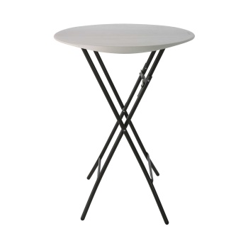 33-Inch Round Bistro Table (almond)