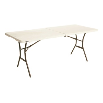 6-Foot Essential Fold-In-Half Table (almond)