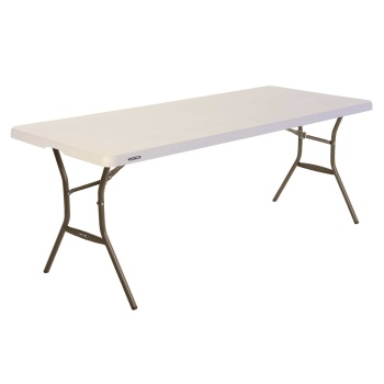 6-Foot Essential Stacking Table (almond)