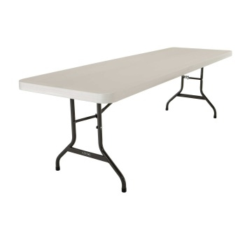 8-Foot Commercial Folding Table (almond)