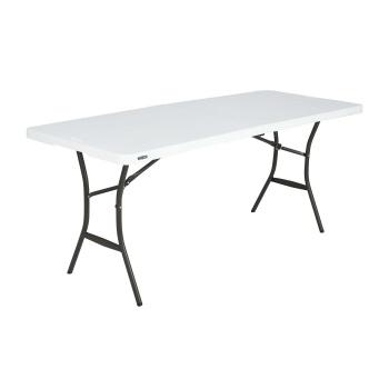 6-Foot Essential Fold-in-Half Table (white granite)