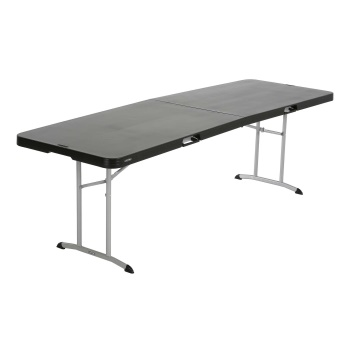 8-Foot Commercial Fold-In-Half Table (black)
