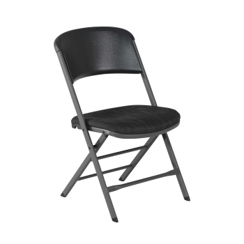 Padded Commercial Folding Chair (Charcoal Gray)