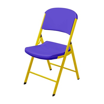 Classic Commercial Folding Chair (purple and yellow)