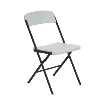 Contemporary Essential Folding Chair (white granite)
