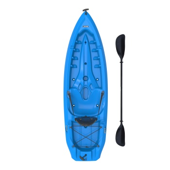 Lotus Kayak (Blue, Paddle, Backrest)
