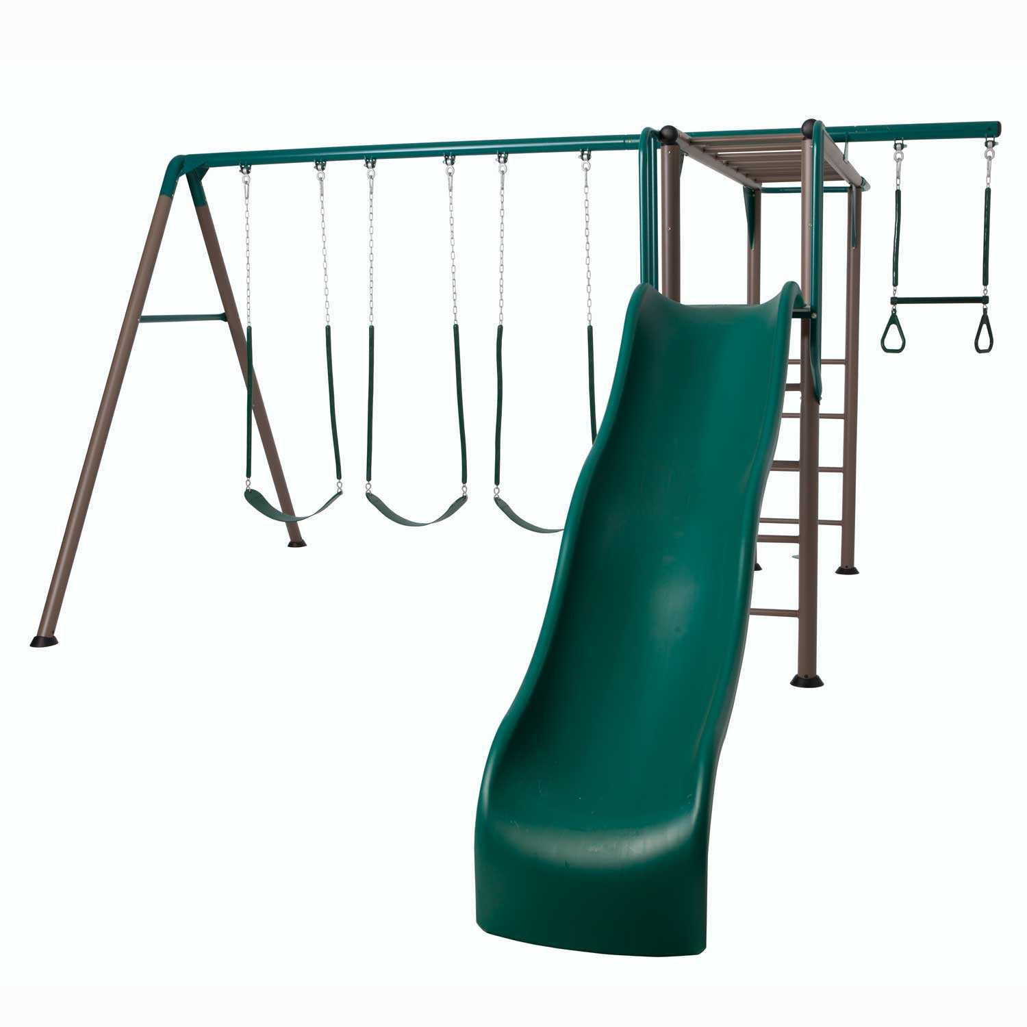 Monkey Bar Adventure Swing Set (earthtone)