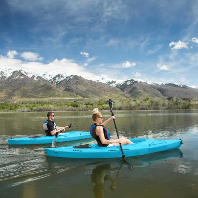 Lifetime Payette 98 Sit-In Kayak - 2 Pack (Paddles Included) photo