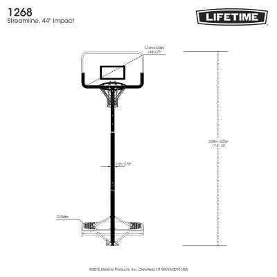Lifetime Adjustable Portable Basketball Hoop (44-In Impact) photo