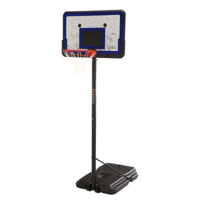 Lifetime's portable basketball hoops are the perfect option for beginning and seasoned players alike! With a portable base and a telescoping adjustment from 7.5 to 10 feet, this hoop can be moved to the perfect spot in your yard or driveway for whoever is playing. The backboard is made of uv-protected polyethylene, and will not crack, chip, or peel. Invite friends, new and old, to make great memories together. photo
