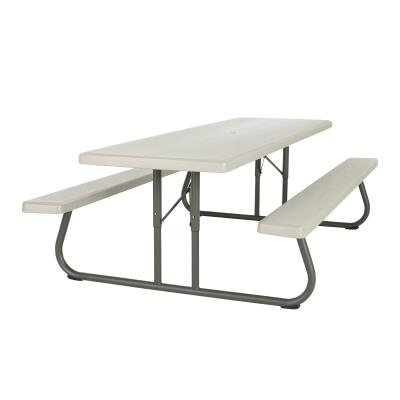 Lifetime 8-Foot Classic Folding Picnic Table - Putty photo