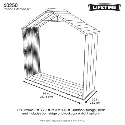 30 Inch Extension Kit for 8 Ft. Sheds (No Windows) photo