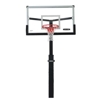 Are you tired of running into the hard, cold steel of your basketball pole? Do your kids want something sensational to show to their friends? Look no further! The Lifetime Mammoth pole pad is compatible with 5 in. square poles. It will provide some padding for competetive games, and will also give your hoop a professional feel. photo