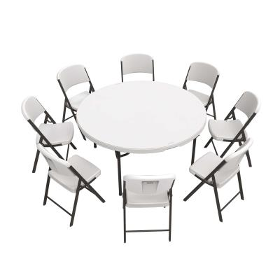 Surprising Lifetime 60 Inch Round Table And 8 Chairs Combo Download Free Architecture Designs Rallybritishbridgeorg