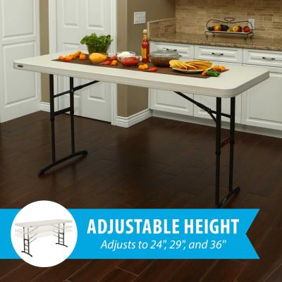 Lifetime 6-Foot Adjustable Height Table (Commercial) - White Granite photo