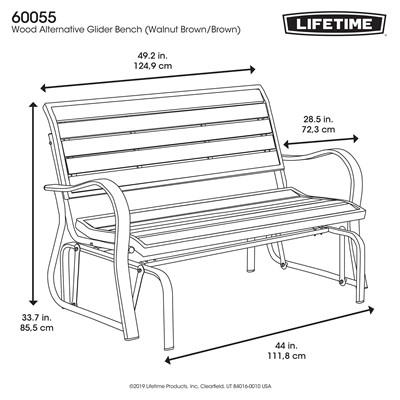 Outstanding Lifetime Glider Bench Ibusinesslaw Wood Chair Design Ideas Ibusinesslaworg