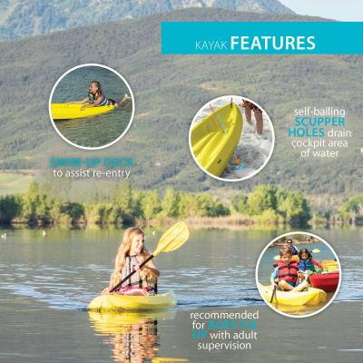 Lifetime Wave 60 Youth Kayak (Paddle Included) photo