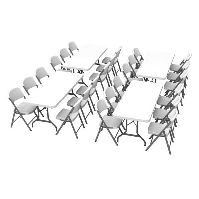 Awesome Lifetime 4 6 Foot Rectangle Tables And 24 Chairs Combo Interior Design Ideas Apansoteloinfo