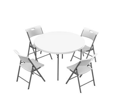 Prime Lifetime 48 Inch Round Table And 4 Chairs Combo Bralicious Painted Fabric Chair Ideas Braliciousco