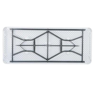 Lifetime 6 Foot Folding Table Light Commercial White Granite Photo