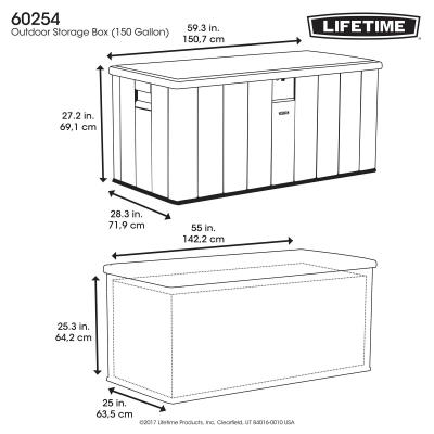 Lifetime Heavy-Duty Outdoor Storage Deck Box (150 Gallon) photo