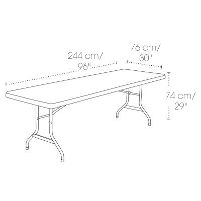 Lifetime 8-Foot Folding Table (Commercial) - Almond photo