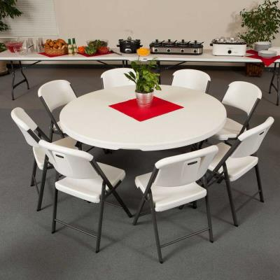 Lifetime (4) 60-Inch Tables, (2) 8-Foot Tables, and (48) Chairs Set (Commercial) photo