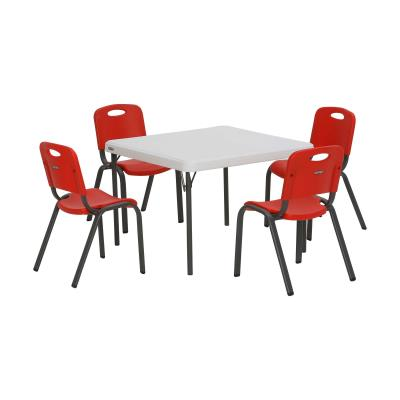 Lifetime Childrens Table and (4) Stacking Chairs Combo photo
