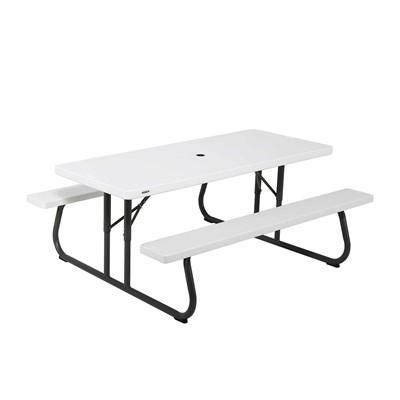 Lifetime 6 Folding Picnic Table.Lifetime 6 Foot Classic Folding Picnic Table