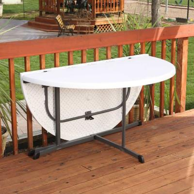 Lifetime 60-Inch Round Fold-In-Half Table (Commercial) photo