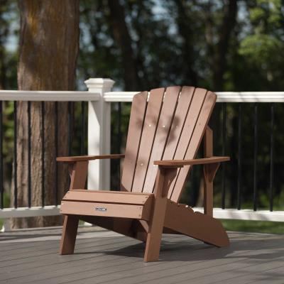Create the ideal outdoor living space with the Adirondack Chair from Lifetime Products. Constructed of weather-resistant polystyrene, the chair is UV protected and designed for outdoor use. Unlike wooden furniture, the simulated wood will not splinter or rot and never needs to be painted or varnished. So enjoy an afternoon relaxing with family and friends. The Adirondack Chair from Lifetime Product is the perfect addition to your yard or patio. photo