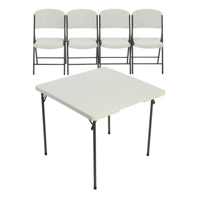 Lifetime 34-Inch Card Table and (4) Chairs Combo photo