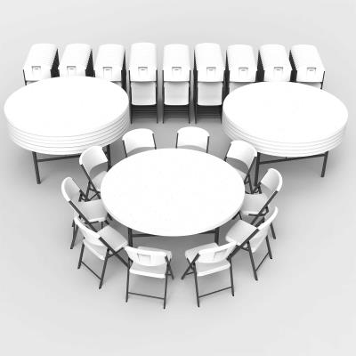 Astounding Lifetime 12 72 Inch Round Tables And 120 Chairs Combo Commercial Pabps2019 Chair Design Images Pabps2019Com