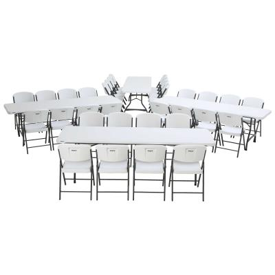 Lifetime (4) 8-Foot Stacking Tables and (32) Chairs Combo (Commercial) photo