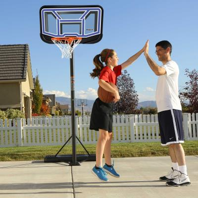 Get the family to shoot some hoops and spend quality time together. Lifetime's Streamline Portable Basketball Hoop is the ideal choice for any driveway or backyard. The portability lets you chose the perfect spot to play a game with your kids. The Impact® Backboard offers incredible durability with a shatterproof build and fade-resistant graphics. With the telescoping adjustment, you can easily change the height of the hoop to fit any skill level. The Lifetime Streamline Basketball Hoop offers a great way to bond with your kids while getting time outside. photo