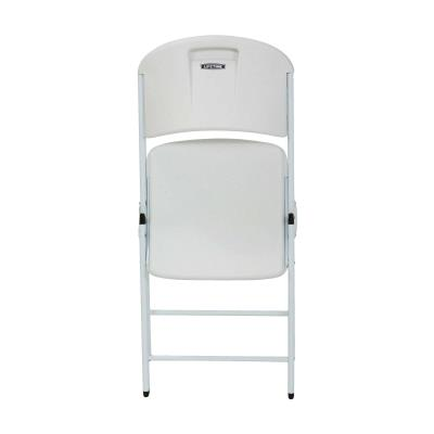 Lifetime Classic Folding Chair (Commercial) - White with White Frame photo