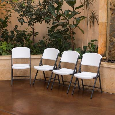 Lifetime (12) 72-Inch Round Tables and (120) Chairs Combo (Commercial) photo