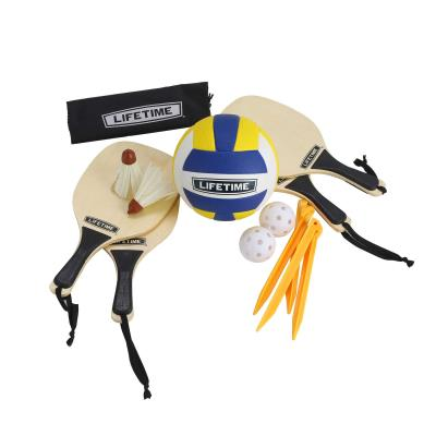 Lifetime Outdoor Games Set with Paddles and Volleyball photo