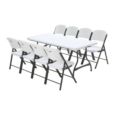 Lifetime 6-Foot Stacking Table and (8) Chairs Combo (Commercial) photo