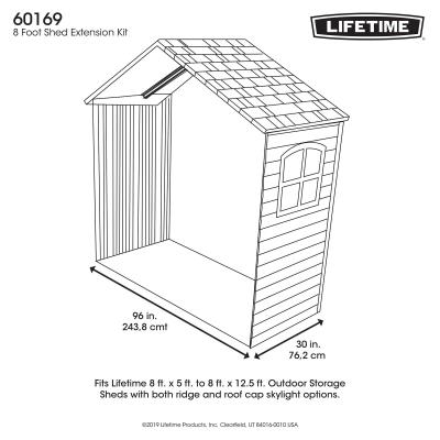 30 Inch Extension Kit for 8 Ft. Sheds (1 Window) photo
