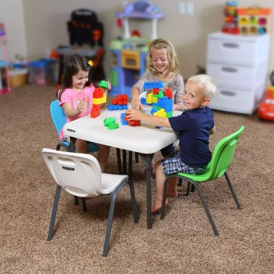 Lifetime Childrens Table and (4) Stacking Chair Combo photo