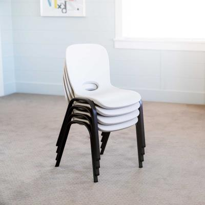 Lifetime Children's Table and Chairs Combo - This is a combo pack of 4 children's almond chairs (80383) and 1 children's almond table (80425). 2-year limited warranty. photo