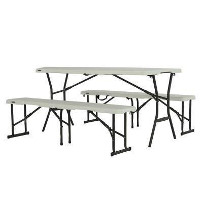 Lifetime 5-Foot Table and (2) Bench Combo (Light Commercial) photo