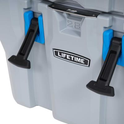 The Lifetime High Performance Cooler is the best option for daily use anywhere you want to go. Whether you are a construction worker on site or going to a game to tailgate, the 28 Quart Cooler is a compact solution great for a lunch, some drinks, and other snacks. The insulated walls offer excellent durability and protection with ice retention for up to 5 days. This cooler is strong enough to withstand a bear attack and it out performs most premium priced coolers. Between the strength, durability, and convenience, this Lifetime Cooler is built to be used for years of use. photo