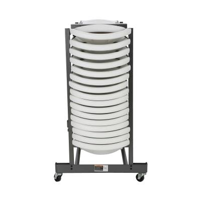 Lifetime Chair Cart - The Lifetime Chair Cart is constructed of heavy-duty powder-coated steel (gray) with caster wheels. Designed to hold Lifetime Commercial and Light Commercial chairs. The cart accommodates at least 32 Lifetime Folding Chairs. 2-year limited warranty. photo