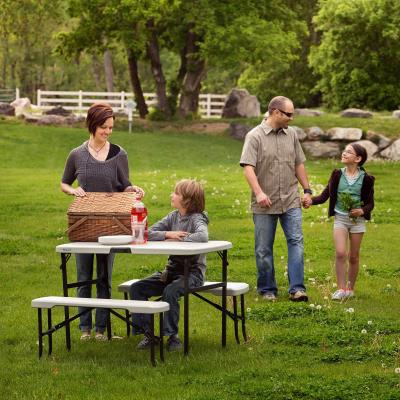 Lifetime Folding Picnic Table with Benches photo