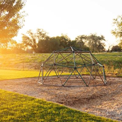 The Lifetime Climbing Dome is a great option for outdoor fun and adventures. The rock climbing hand grips help your kids develop strong muscles and coordination. Your children and their friends will spend hours devising new games and scenarios on their backyard jungle gym. photo