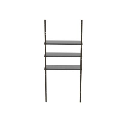 3-Piece Shelf Accessory Kit - Designed to fit all Lifetime storage buildings, the shelf accessory kit includes (3) 30 in. x 10 in. steel-reinforced shelves, (2) steel channels, (6) steel support brackets, and installation hardware. Compatible with sheds with horizontal siding. photo